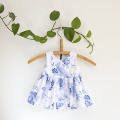Size 0-Sustainable Handmade Sleeveless Baby Dress