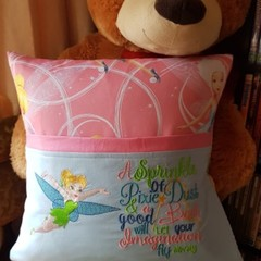"""Flying Tinkabell"" Reading/Pocket Cushion  (cover only)"