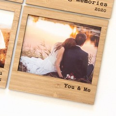 FREE POST | You & Me magnetic photo frame bamboo Valentine's Anniversary Wedding