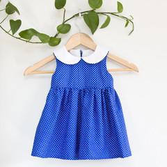 Size 2-Sustainable Handmade PeterPan Toddler Dress