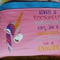 """Happy Unicorn"" Reading/Pocket Cushion  (cover only)"