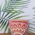 Red and blue Mandala Bowl