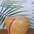 Yellow and red Mandala Bowl