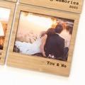 You & Me Magnetic Photo Frame, Bamboo Fridge Magnet, Anniversary, Valentine