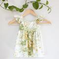 Vintage Upcycled Flutter Toddler Dress Size 2