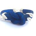 Nautical Inspired Bracelet, Rope Bracelet, Blue Knot Bracelet, Unique Bracelet