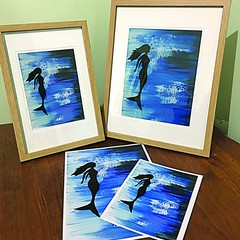 Framed Mermaid Print - 2 Sizes Available
