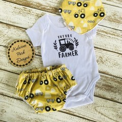 "Size 6-9 mths ""Future Little Farmer"" Onesie Set"