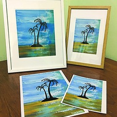 Framed Palm Tree Print -  2 Sizes Available