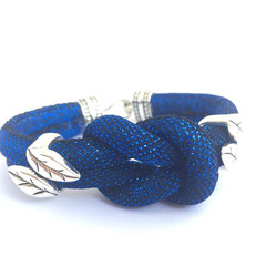 Nautical Inspired Bracelet, Rope Bracelet, Blue Knot Bracelet, Unique Bracelet