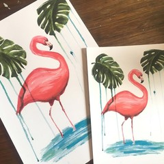 Flamingo Prints - A3, A4 and A5
