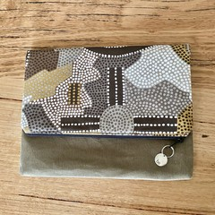 Foldover clutch purse