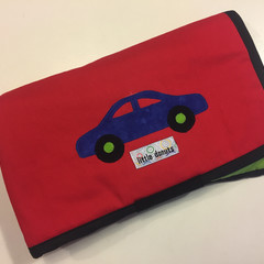 ~ Take-Anywhere Car Playmat in Red with 4 pocket 'garage' ~ FREE POSTAGE ~