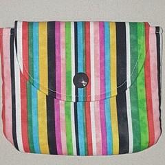 Multi striped coin pouch