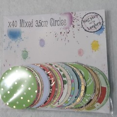 3.5cm pre-cut paper circles scrapbooking card making kids craft