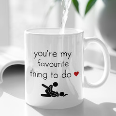 Rude Funny Cheeky Valentines Love Ceramic Personalised Coffee Tea Mug - CM023