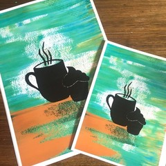 Steaming coffee Print - A3, A5 & A5 sizes available