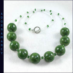Polymer Clay Bead Necklace: Greens are good for you