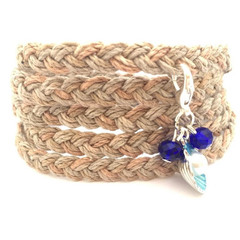 Boho  Wrap Bracelet, Braided Hemp Bracelet, Casual Bracelet, Beach Inspired
