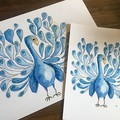 Peacock Print - A3, A4 and A5
