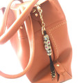 Boho Bag Charm, Tassel Bag Charm, Beaded Key Ring, Tribal Keychain - Black