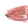 Dusty Pink Braided Hemp Bracelet, Wrap Bracelet, Casual Bracelet, Beach Inspired