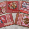 Set of 5 Handmade Notecards - Buttons 'n' Lace
