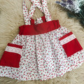 CHERRY FIELDS SUSPENDER SKIRT, sz 00