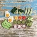 Eat your veggies felt food, play kitchen, pretend food, pure new wool felt
