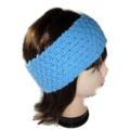 Knitted Blue Wool Earwarmer Headband