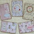 Set of 5 Handmade Notecards - Butterflies