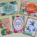 Set of 5 Handmade Notecards - Tropical