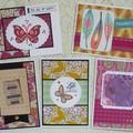 Set of 5 Handmade Notecards - Boho