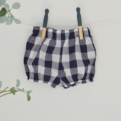 Unisex navy and white gingham bloomers
