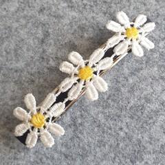 Yellow Daisy Hair Clip