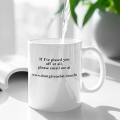 Don't Give A Shit Email Funny Cheeky Ceramic Personalised Coffee Tea Mug - CM008