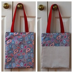 Handy Tote Bag - Paisley - Totally Reversible