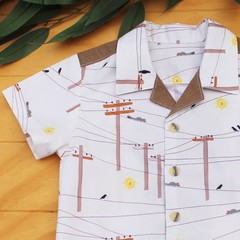 Possum Highway - Boy's Button up Shirt -  Size 3
