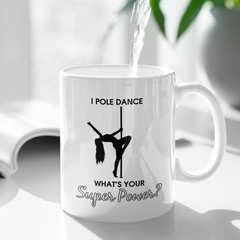 Pole Dancer Dancing Ceramic Personalised Coffee Tea Mug - CM024