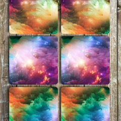 Nebula Neoprene Coasters Set Of 6