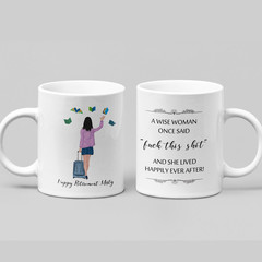 Wise Woman Retirement Funny Farewell Ceramic Personalised Coffee Tea Mug - CM015