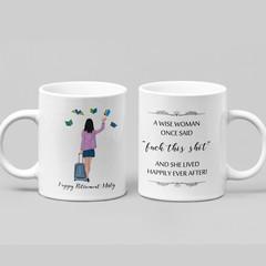 Wise Woman Retirement Funny Farewell Ceramic Personalised Coffee Tea Mug - CM015