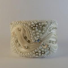Crystal & Pearl Bracelet Cuff
