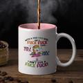 Rude Funny Unicorn Cup Ceramic Personalised Coffee Tea Mug - CM011