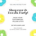 INVITATION - CUSTOMISED PRINTABLE DOWNLOAD, PYJAMA PARTY