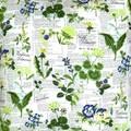 Botanical Print Patio Chair Cushion.