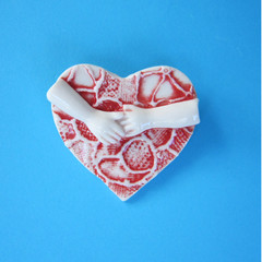 Hold On To Your Heart Brooch