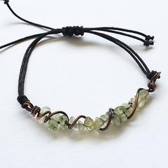 Prehnite Copper Bracelet