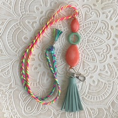 Lanyard Necklace - Swirl of Colour