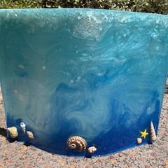 Decorative ocean Inspired Resin Art Sculpture